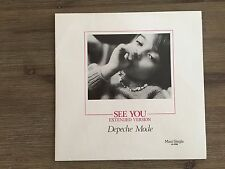 """Depeche Mode – See You 12"""" RED MARBLE!! German Press Mute – INT 126.802"""