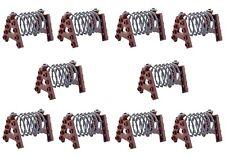 10 Stacheldraht Hindernisse passend für Lego®, Kazi®, Sluban® Cobi® inkl Versand