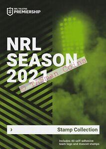 Stamp Pack Australia 2021 NRL SEASON Club Logo & Mascot Collection