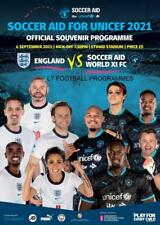 More details for * 2021 soccer aid - england v world xi - official programme - 4th sept 2021 *