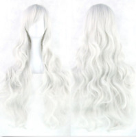 Women Fashion Lady Anime Long Curly Wavy Hair Party Cosplay Full Wig