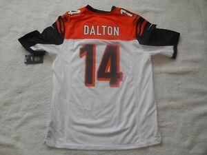 Authentic Nike Field #14 Andy Dalton Cincinnati Bengal Football Jersey Men L NEW