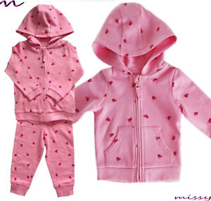 BNWT MOTHERCARE Baby Girls Pink Butterflies Lounge Joggers Hoody Tracksuit Set