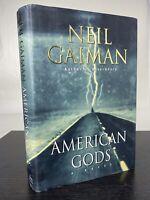 AMERICAN GODS Neil Gaiman 1ST Edition 1ST Printing Hardcover DJ. Very Good+