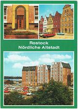 Ansichtskarte - Rostock, nördliche Altstadt, An der Fischerbastion, DDR