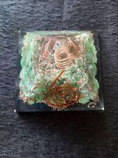 Green Chrysoprase Stone Natural Organite Orgone 50 mm Pyramid Reiki Coil