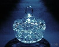 Vintage Cut Glass Lidded Trinket Pot / Bon Bon Dish | FREE Delivery UK*