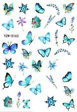 Schmetterling Nagelsticker Türkis Blau  (YZW-163) selbstklebend