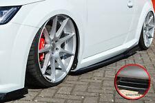Seitenschweller Schweller mit Wing ABS für Audi TT TTS 8S S-Line Schwarz Glanz