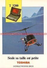 TOSHIBA T3200 T 3200 Ordinateur Portable Documentation PublicitéVintage