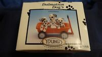 Young's Dalmation Dog's Collectibles 1997 3 Puppies in a Red Wagon 096587306666