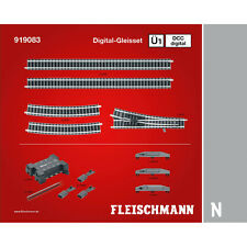 Fleischmann 919083 N Profi-Gleis DCC Digital-Gleisset Ü1 ++ NEU & OVP ++