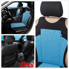 2x T-shirt Design Blue Fabric Car Front Seat Covers Anti-dirty Protector Cover