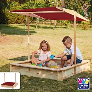 Sandkasten mit Dach Sandkiste Sandbox Buddelkiste Sand Spielzeug Outdoor Garten
