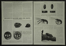 Antique Japanese Arts And Crafts ( History Of ) 1955 3 Page Photo Article