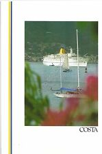 Collezionismo Cartaceo - Menu - Costa Crociere - Daphne - Saturday at sea- 1991