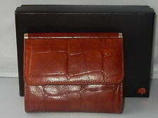 MULBERRY GLOSSY  BROWN TAN CONGO LEATHER PURSE