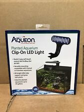 Aqueon 100533613 Black Fish Tank Clip-On Led Lights 3 Way Control Black 8