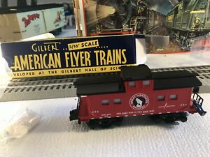 🚅 S SCALE AMERICAN FLYER 6-49017 Great Northern Animated Caboose -NICE 👍 S943