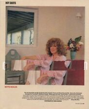 Bette Midler Magazine Photo 1987