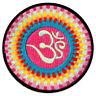 Om Symbol Sonnen-Strahlen Yoga Goa Regenbogen Psy LGBTQ Aufnäher Patch Bügelbild