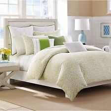 NAUTICA DELWOOD 3 PC SET, 1 KING DUVET COVER & 2 KING SHAMS APPLE GREEN