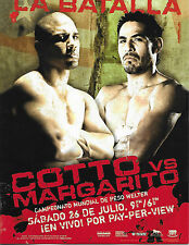 COTTO vs MARGARITO 1  On-Site Program (Spanish) *RARE* floyd mayweather jr.