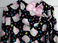 Sanrio HELLO KITTY Hooded Footie Footed 1 Piece Pajamas M or L PERFECT GIFT