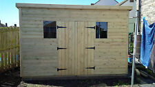 GARDEN SHED SUPER HEAVY DUTY TANALISED 12X6 PENT 19MM T&G. 3X2.