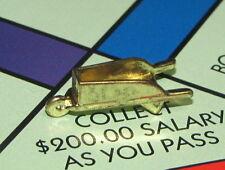 Monopoly Deluxe Edition Board Game Part: WHEEL BARROW TOKEN gold-tone metal cart