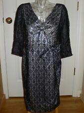 Marc Jacobs Black Metallic Medallion Lace Dress NWT 4