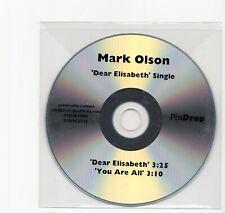 (IW818) Mark Olson, Dear Elisabeth - DJ CD
