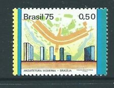 BRAZIL SG1534 1975 50c MODERN ARCHITECTURE (YELLOW TO LEFT)  MNH