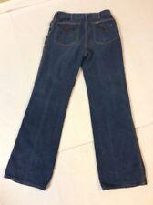 Vintage Lee Denim Jeans Gold Pin Flared Bottom Beaded Retro sz 28 x 31 Rocker