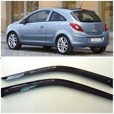 For Opel Corsa D 3d 2006-2014 Side Window Visors Sun Rain Guard Vent Deflectors