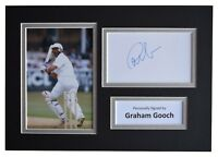 Graham Gooch Signed Autograph A4 photo display England Cricket Sport AFTAL COA