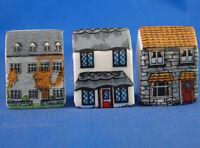 Bird Houses Birchcroft Thimbles Set of Three