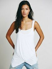 Free People Maui White Strappy Tank Top Shirt Y Back Small