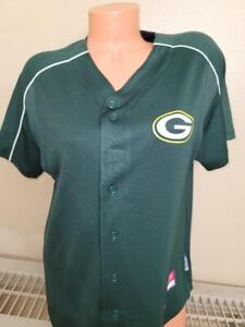 1623 Womens Ladies Majestic GREEN BAY PACKERS Full Button Down JERSEY Green NEW
