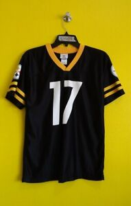 PITTSBURGH STEELERS #17 MIKE WALLACE TEAM APPAREL NFL JERSEY BOYS - XL