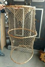 Antique Home made Fishing Nautical Eel, Lobster Trap Net  Nautical collapsible