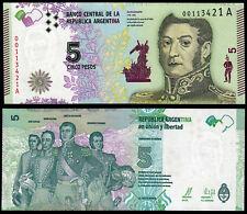 ARGENTINE 5 pesos (P359) N. D. (2015) préfixe A UNC