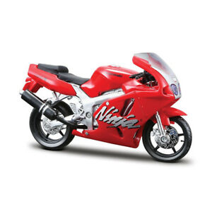 Bburago 51030 Kawasaki Ninja ZX-7R Red Scale 1:18 Model Motorcycle New !°