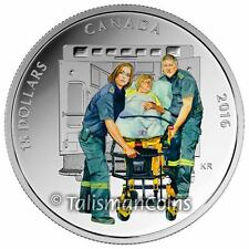 Canada 2016 National Heroes #2 Paramedics Ambulance to ER $15 Pure Silver Proof