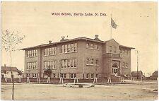 Ward School in Devils Lake ND Postcard 1913