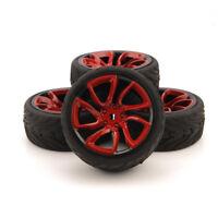 4pcs Rubber Flat Drift Tires Wheel 12mm Hex for HSP HPI 1:10 RC Model Car TRNKR