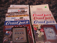 Lot 45 Cross Stitch Book,Country Theme, Booklets,Bears,Western,Mini,FREE Extras