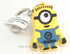 NEW Universal Studios Despicable Me Minion Suction Cup Keychain - Stuart