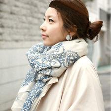 Fashion Women Long Cotton Scarf Wrap Ladies Shawl Girls Large Silk Scarves