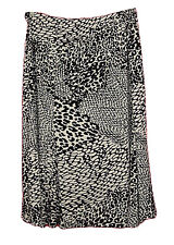 JM Collection Black White Animal Print Full Cut Knit Skirt Womens Plus Size 3X